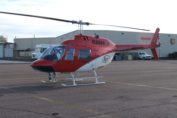 Bell 206 Before paint