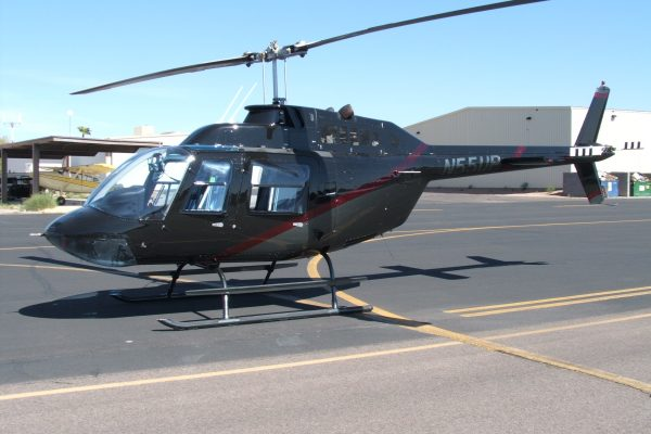 Bell 206 after paint